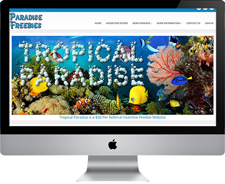 Tropical Paradise Freebies